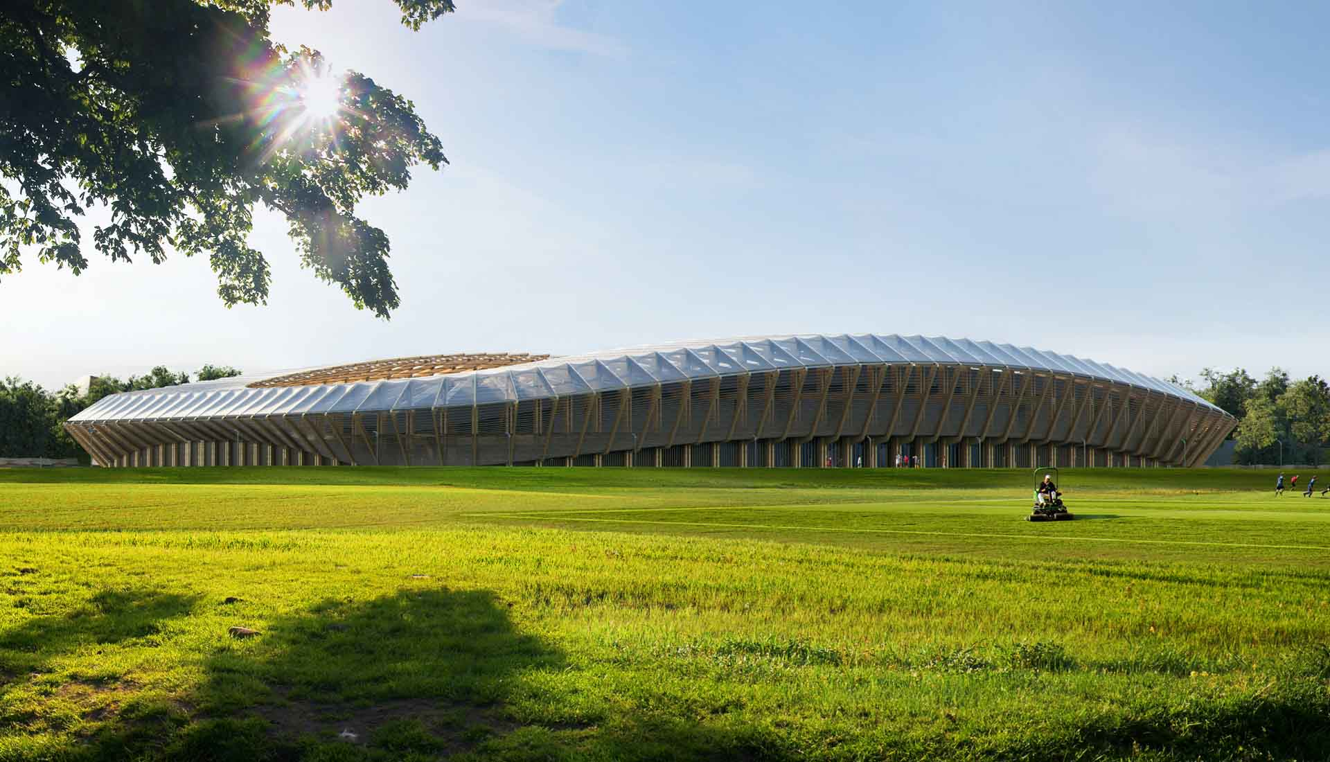The new stadium for the Forest Green Rovers