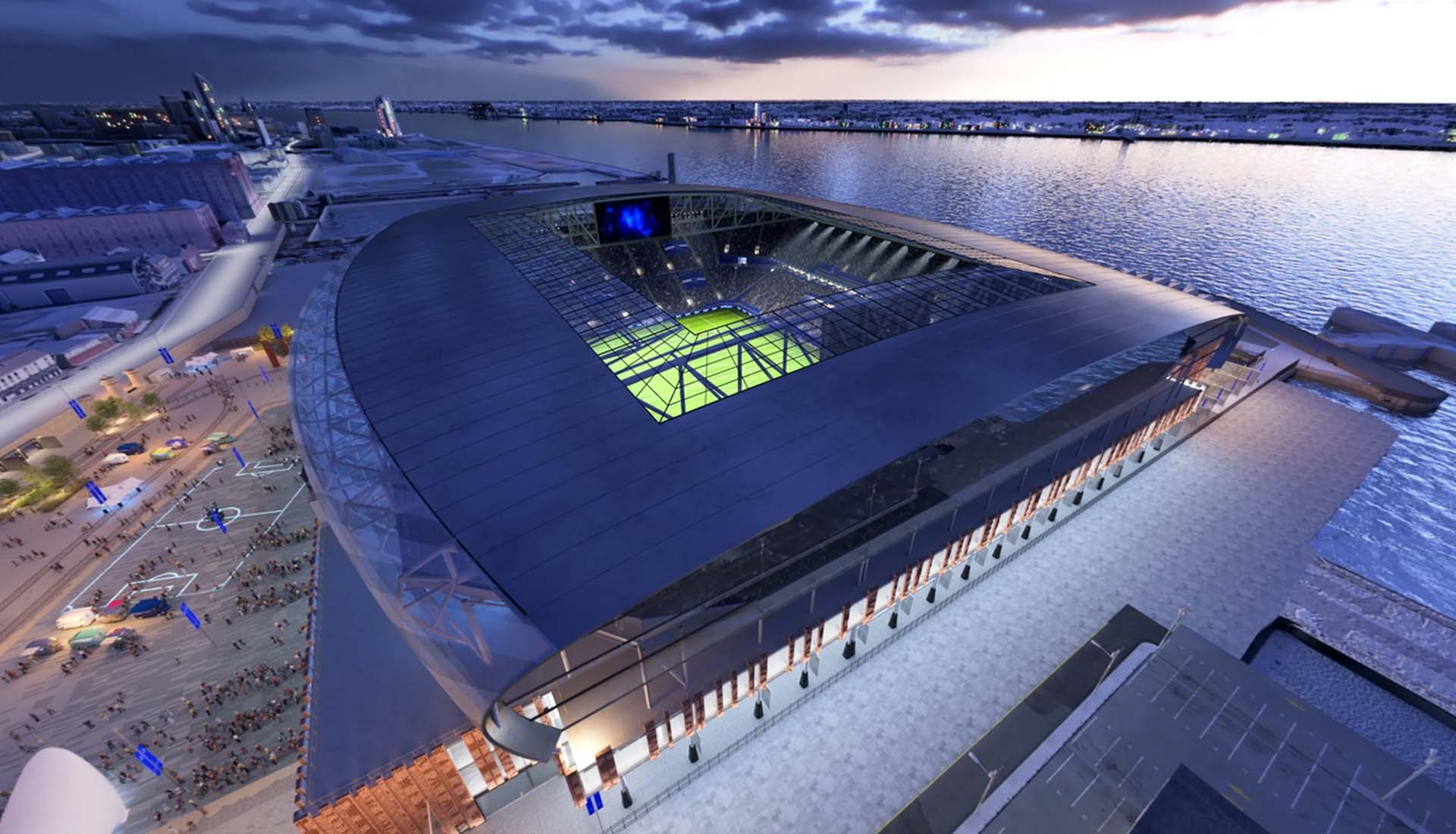 Everton Reveal Final Designs For New Stadium On Liverpool S Waterfront Soccerbible