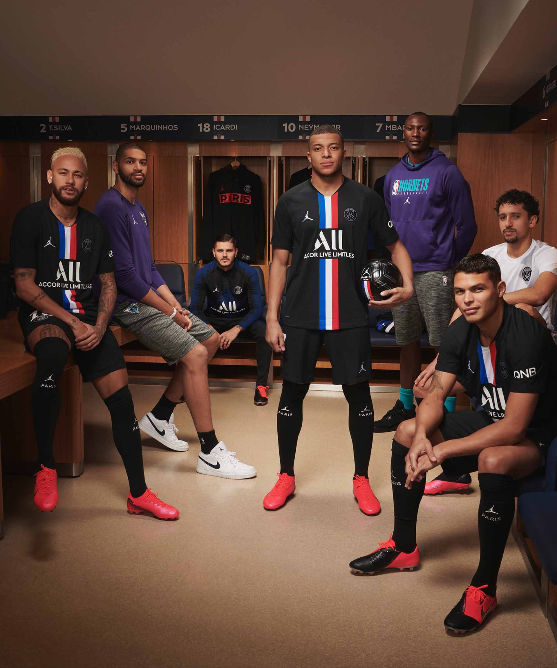 PSG and NBA star pose with the new kit (Image credit: Google)
