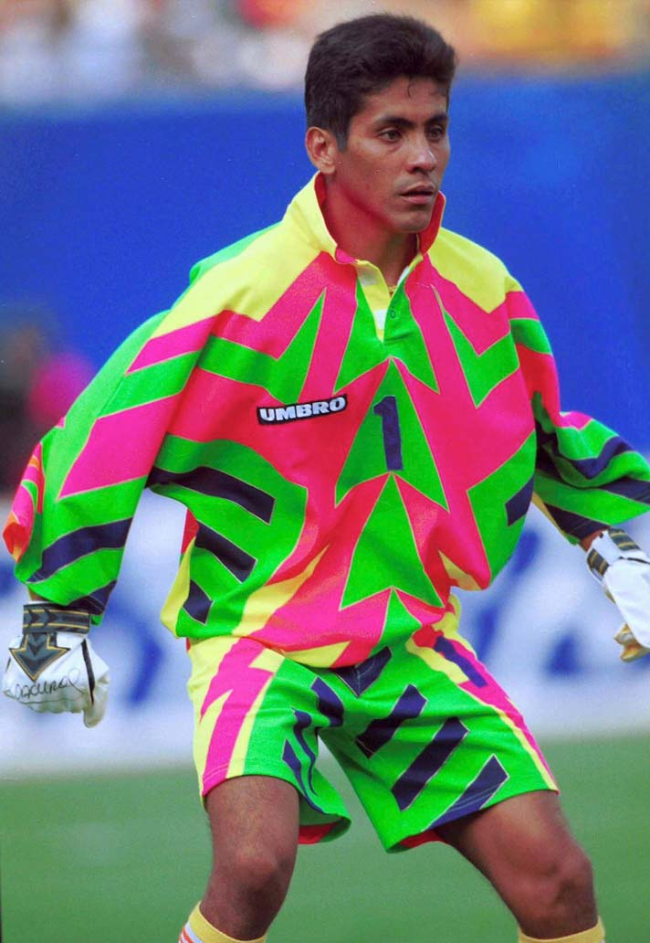 Details about  /Vintage Jorge Campos Goalkeeper Jersey Umbro 1994