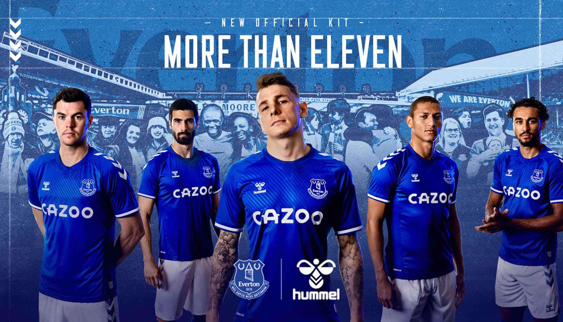 Hummel Mens Everton Football Soccer Home Shorts 2020-21