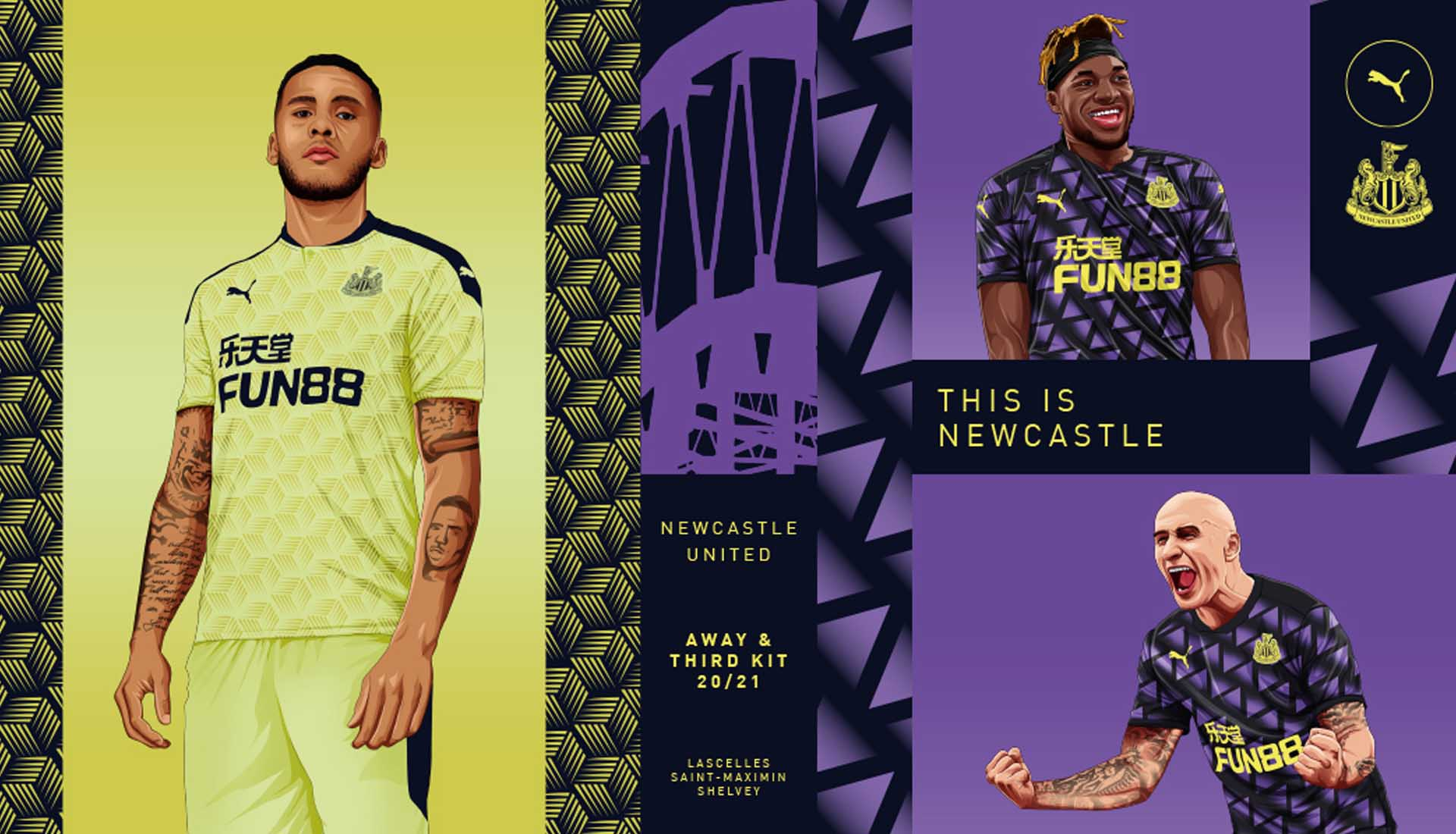 Size GENUINE PUMA Men/'s Newcastle United Home Shirt 2014-2015 XL