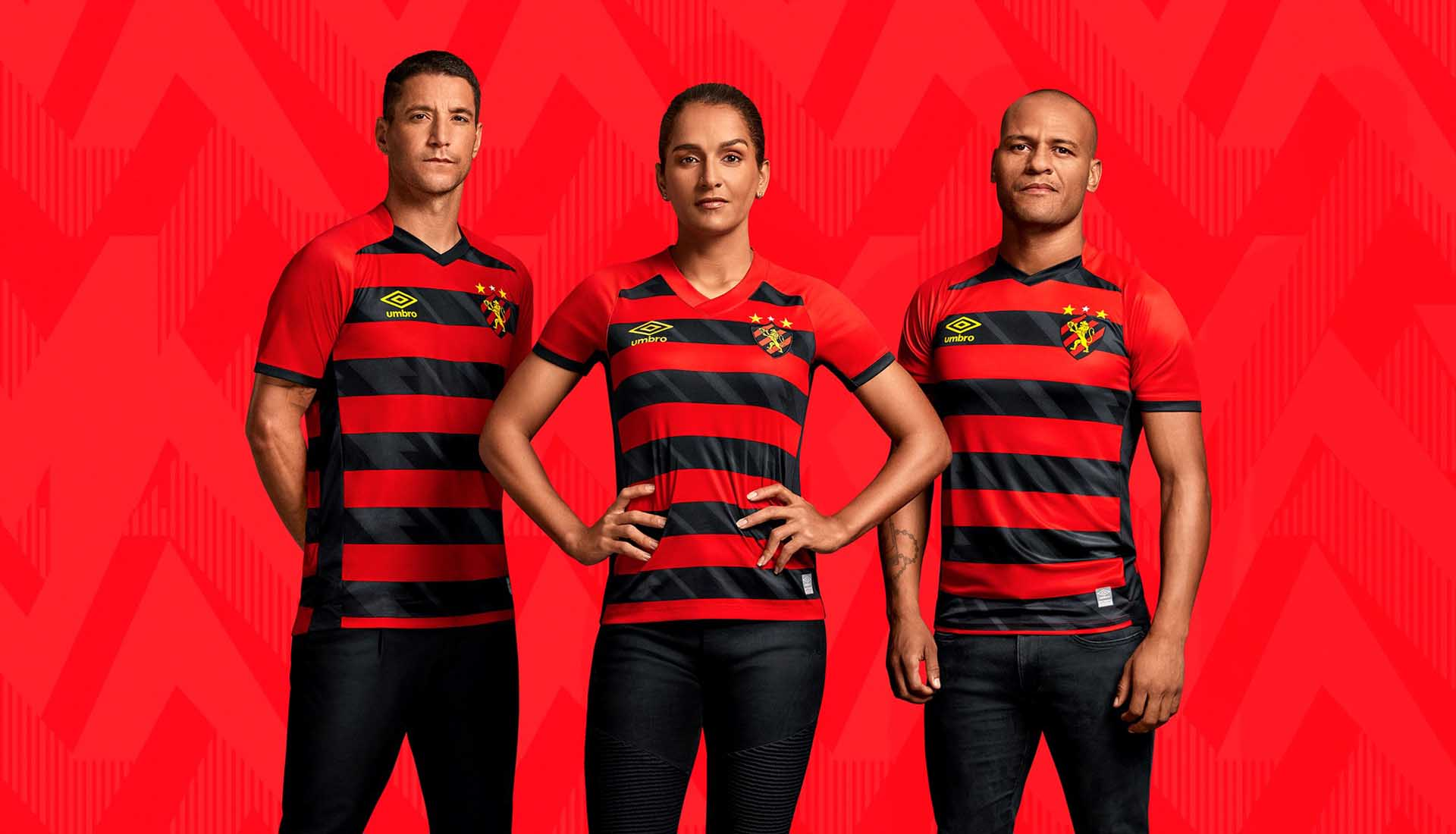 Umbro Launch Sport Club do Recife 21/22 Home & Away Jerseys ...