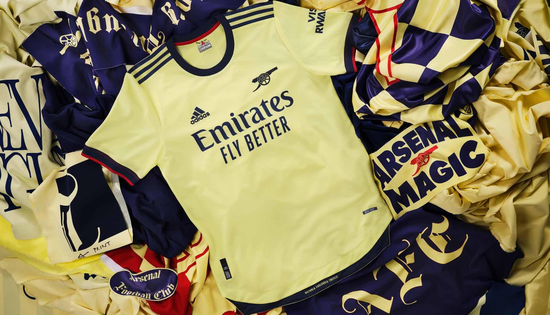 adidas Launch Arsenal 21/22 Away Shirt - SoccerBible