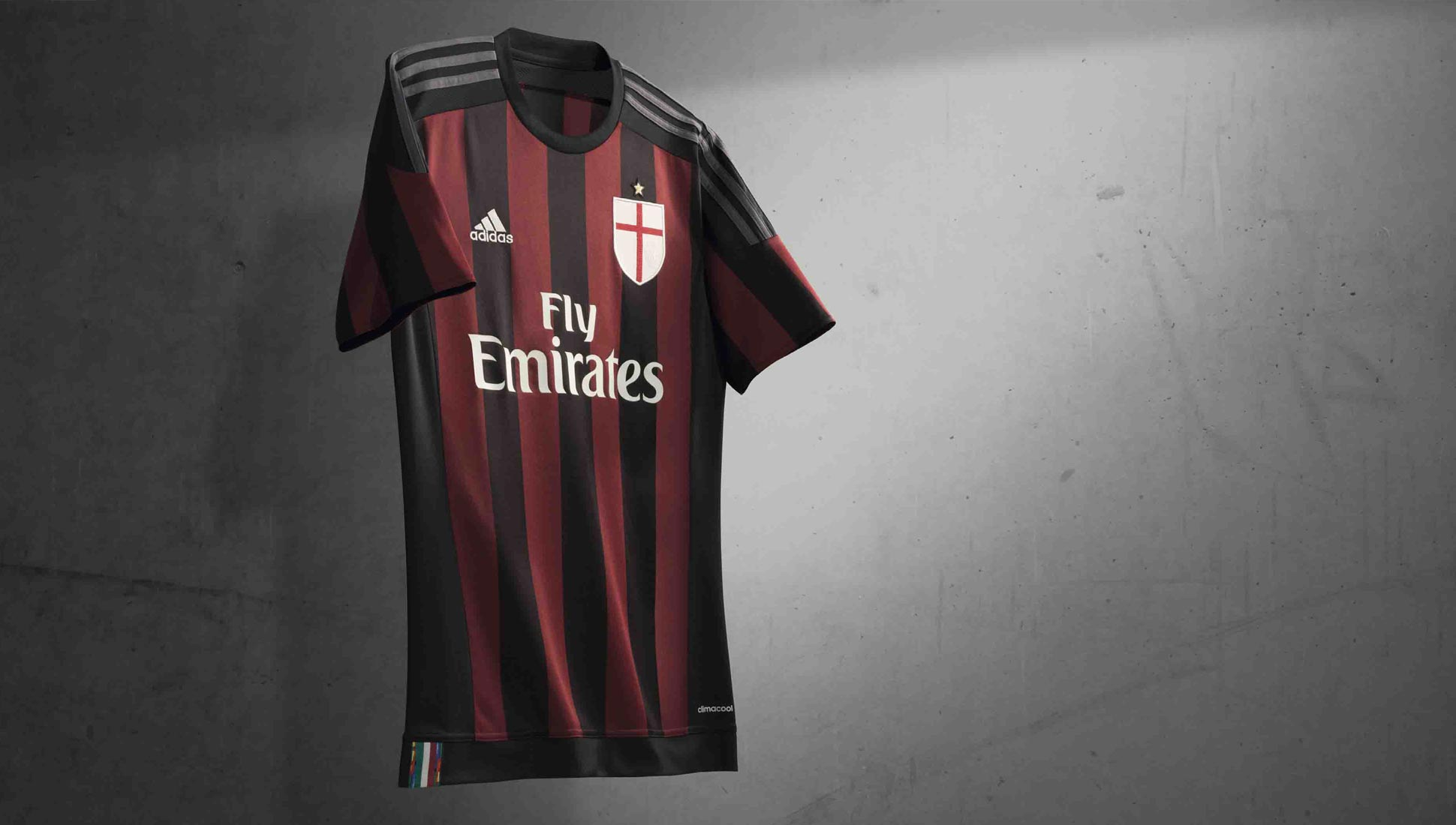 buy online 09d09 42e59 adidas 2015/16 AC Milan Home Kit - SoccerBible