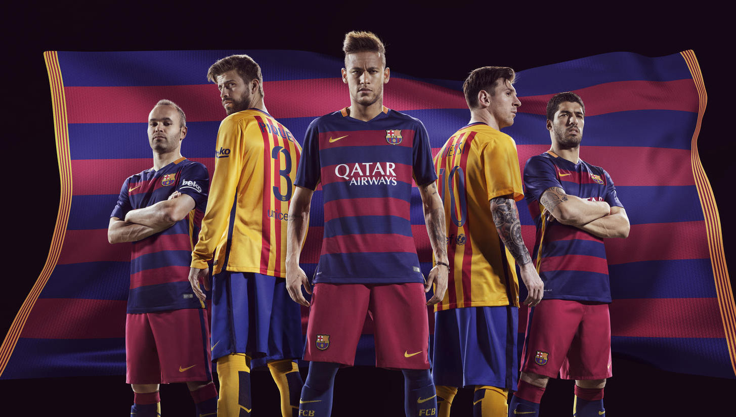 Barcelona 2015/16 Home & Away Kits - SoccerBible