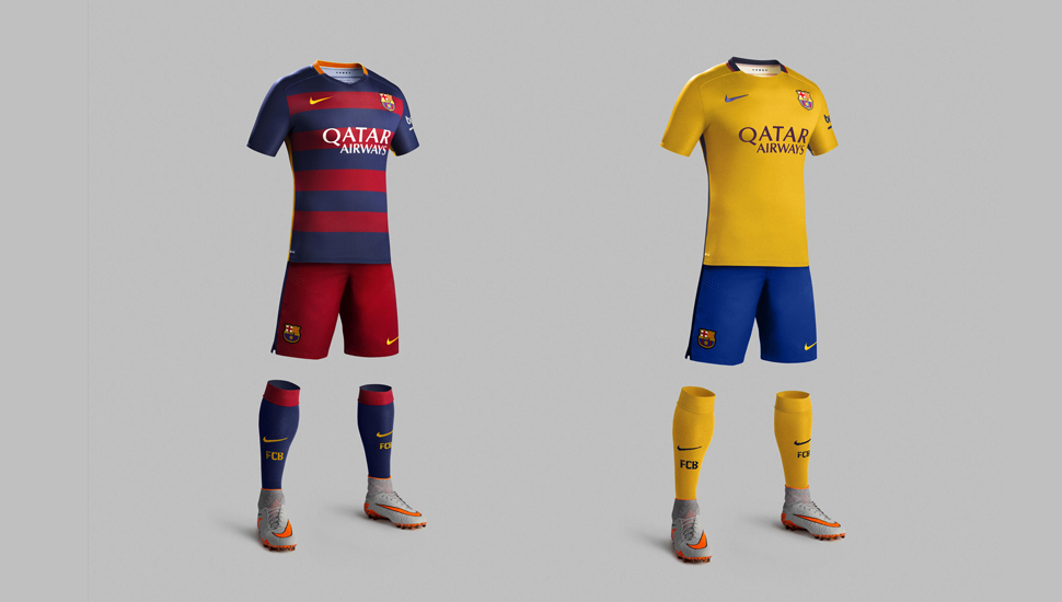 best sneakers f79c4 10c85 Barcelona 2015/16 Home & Away Kits - SoccerBible