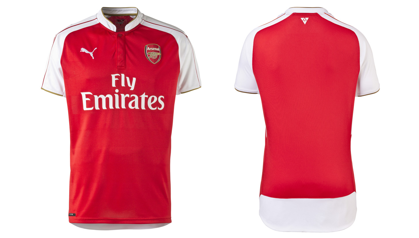 Yükle (1129x829) · PUMA and Arsenal unveil 15/16 home kit - SoccerBible