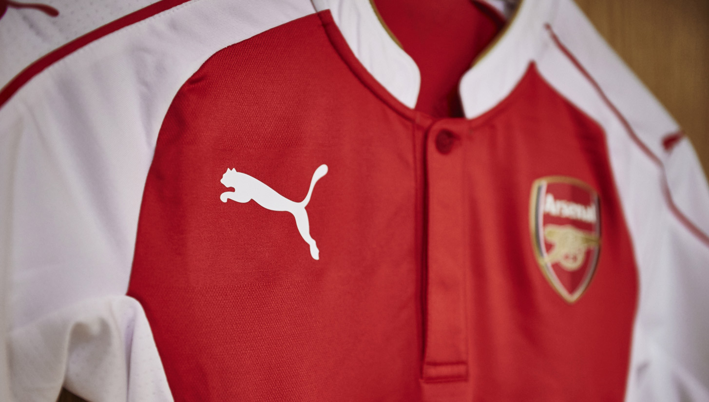 PUMA and Arsenal unveil 15 16 home kit - SoccerBible 7fa8d1f92