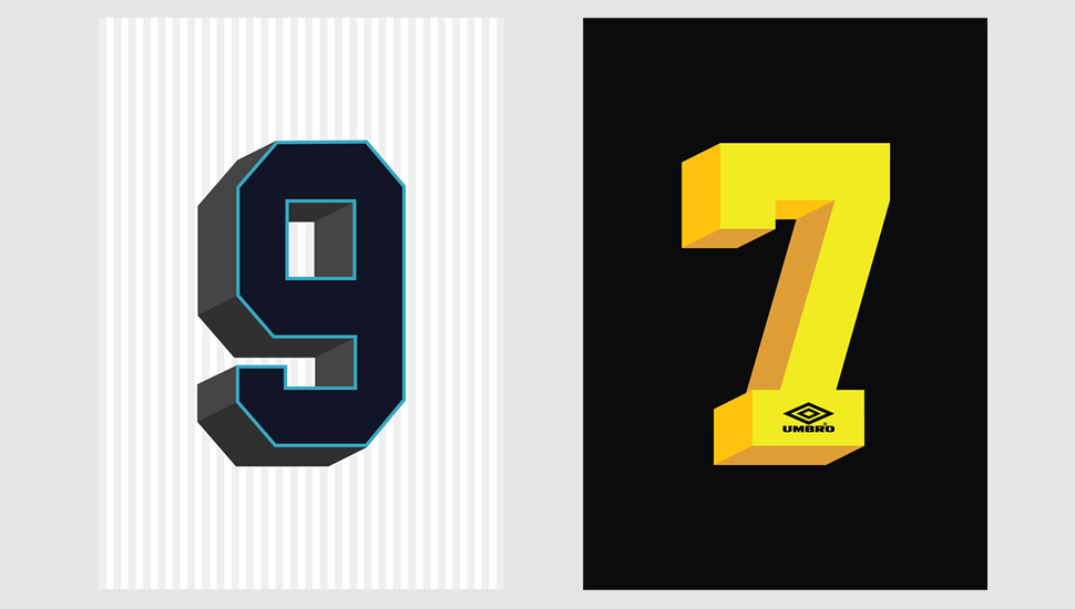 Beautiful Numbers | Iconic Kit Typography by Umbro - SoccerBible