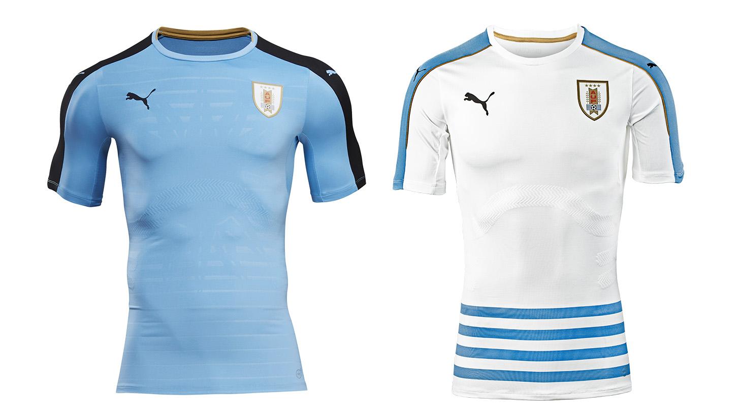 5cb431b2892 Uruguay 2016 Home & Away kits by PUMA - SoccerBible.
