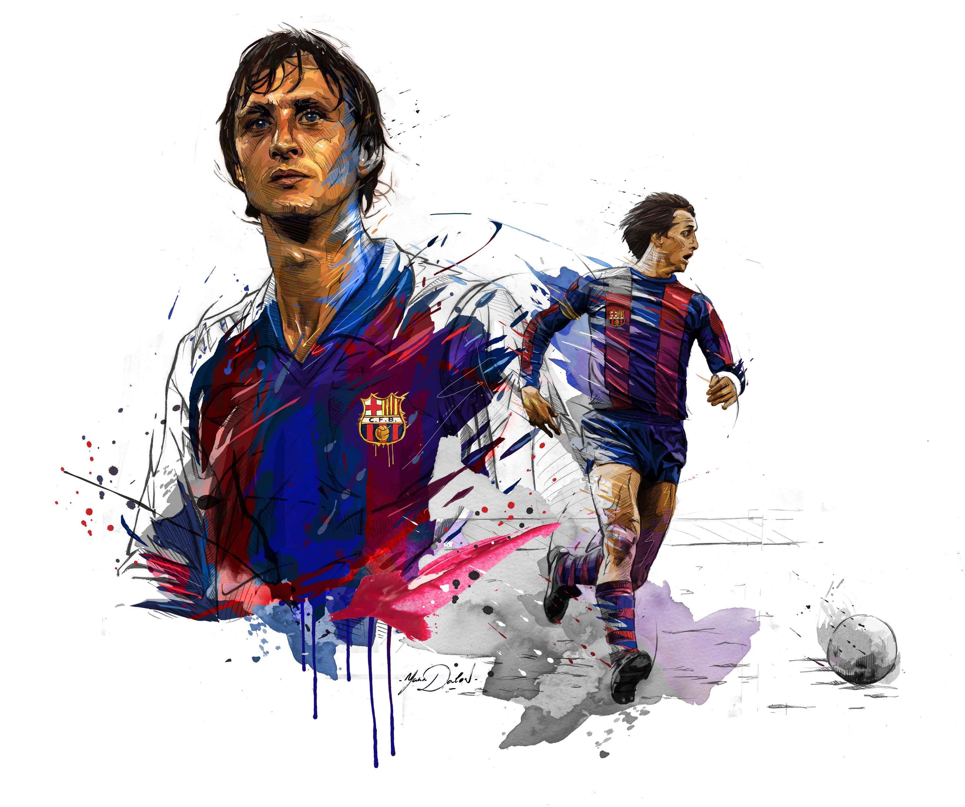 Johan Cruyff by Yann Dalon - SoccerBible