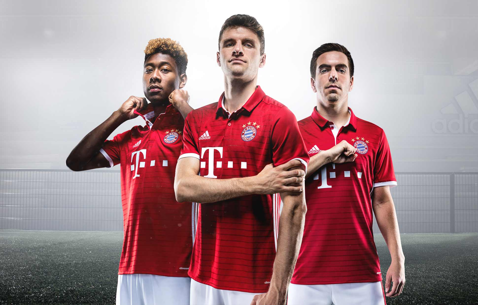 competitive price 1b267 cf3c1 Bayern Munich 16/17 Home Kit by adidas - SoccerBible