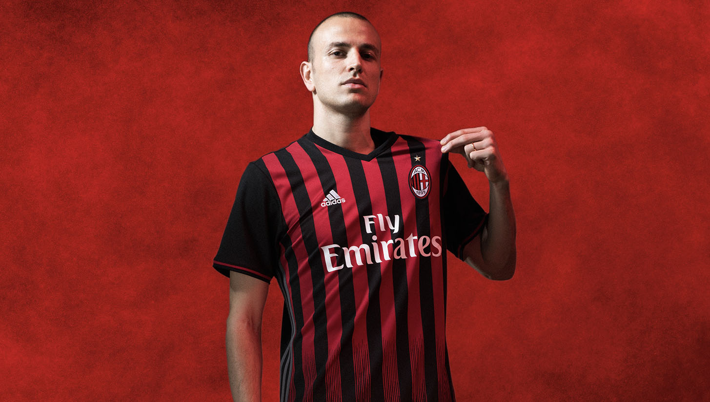 Ac Milan 16 17 Home By Adidas Soccerbible