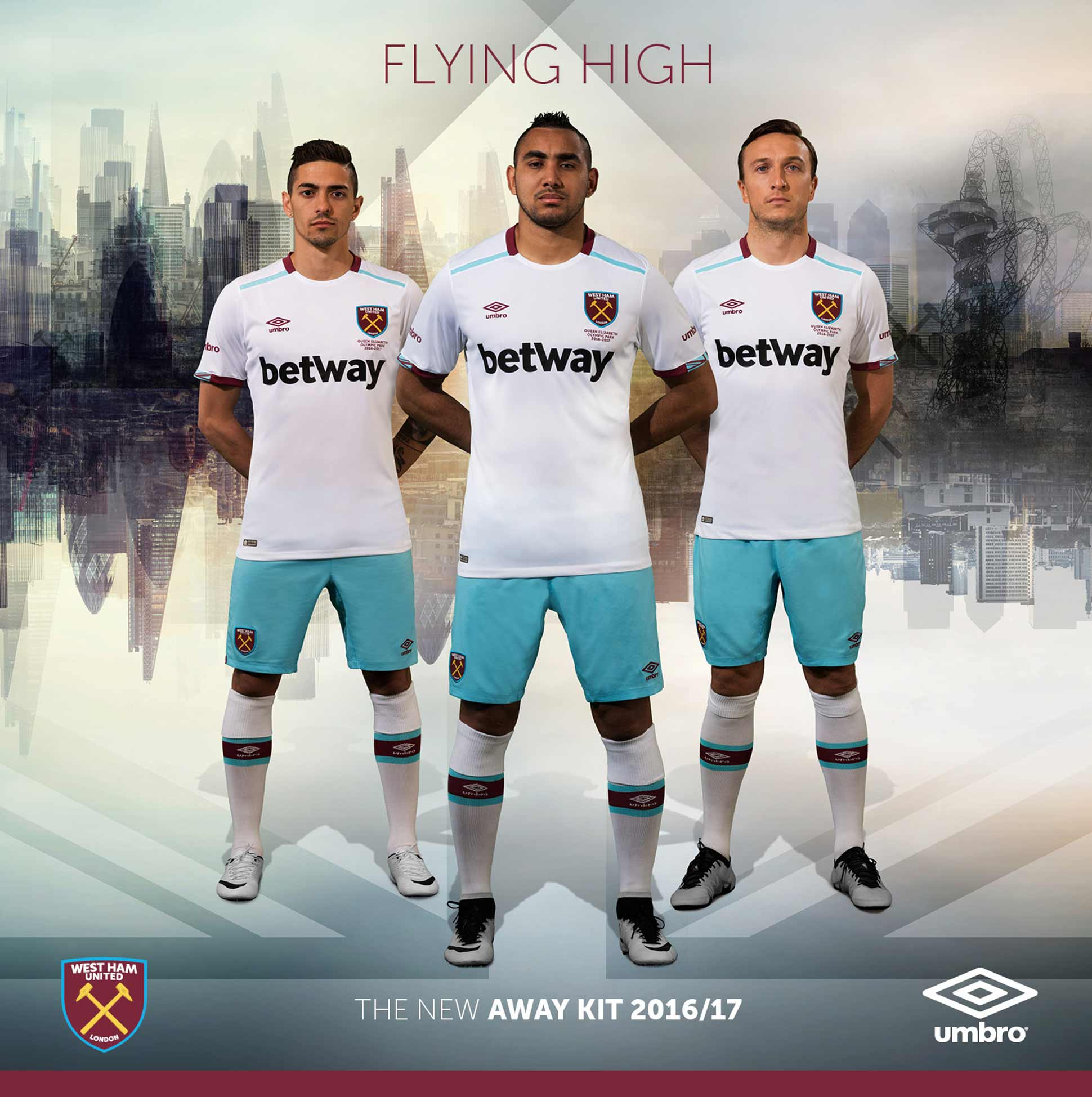 competitive price ade3c 3c7f3 West Ham 2016/17 Away by Umbro - SoccerBible