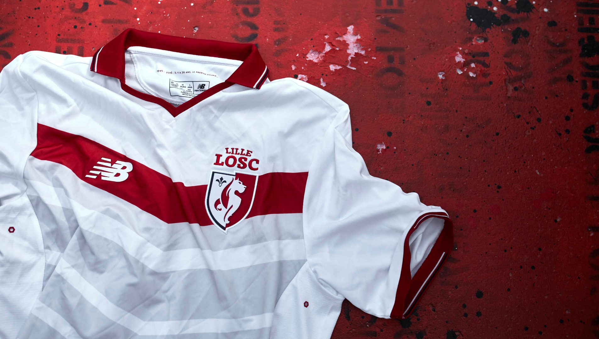 LOSC Lille 2016 17 home kits by New Balance - SoccerBible 58a2d42e2