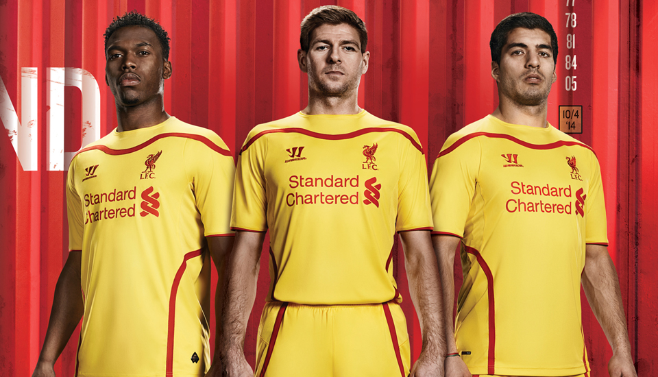 8b3941ff567 Warrior Reveal Liverpool 2014 15 Away Kit - SoccerBible