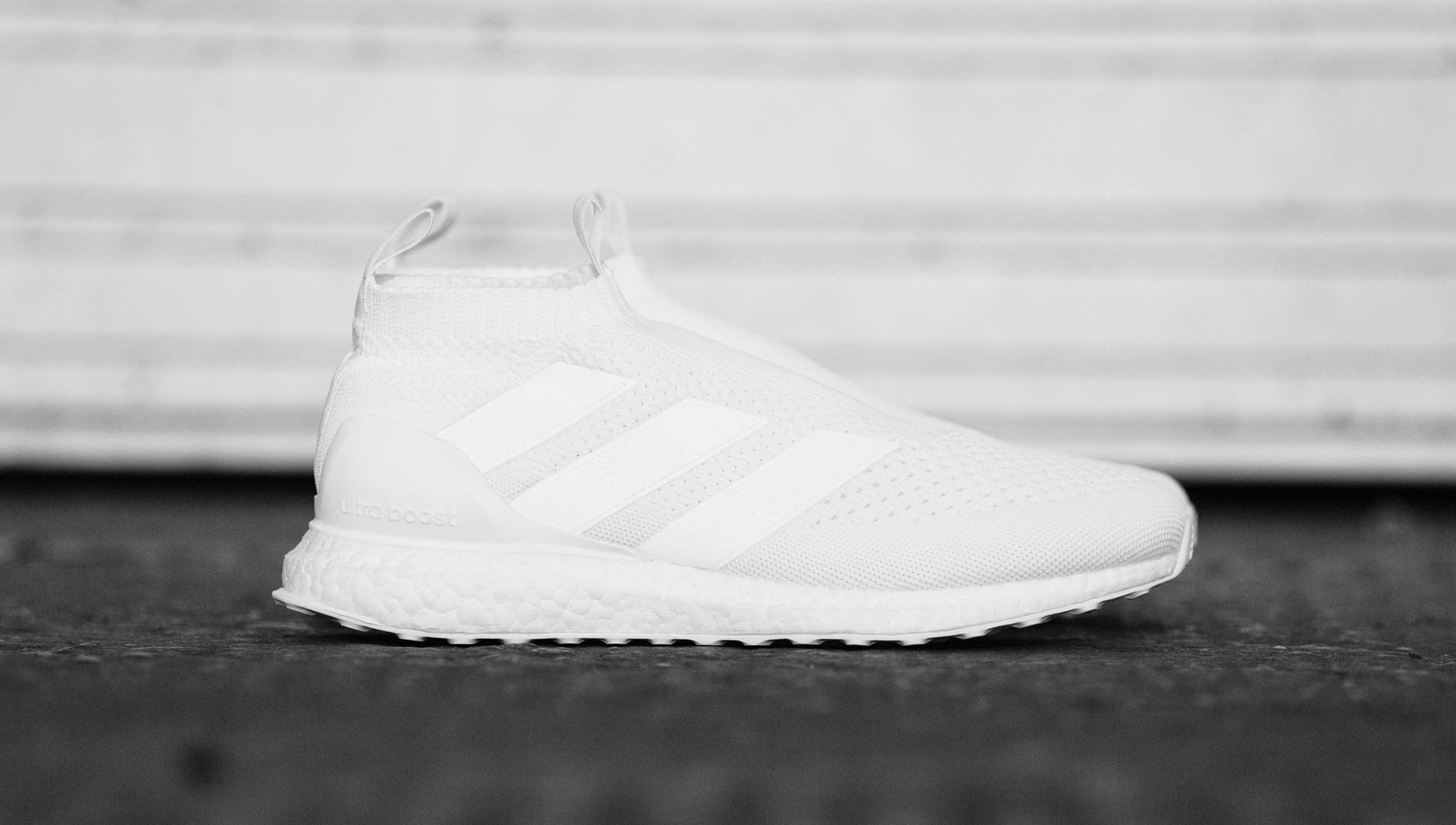 4e2324ed5d5 adidas Purecontrol Ultra Boost Triple White Sneakers - SoccerBible