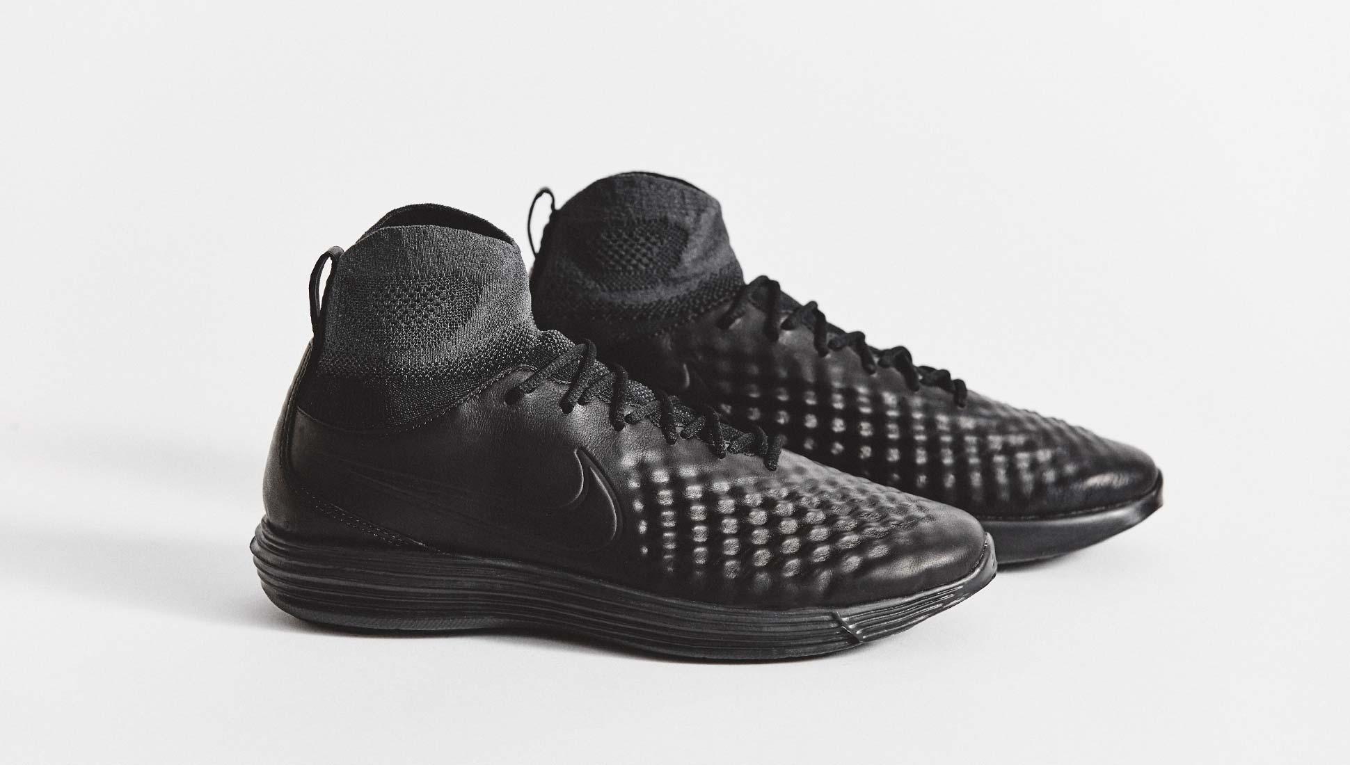 ed88cf48a326d Nike Lunar Magista II Flyknit Black Sneakers - SoccerBible