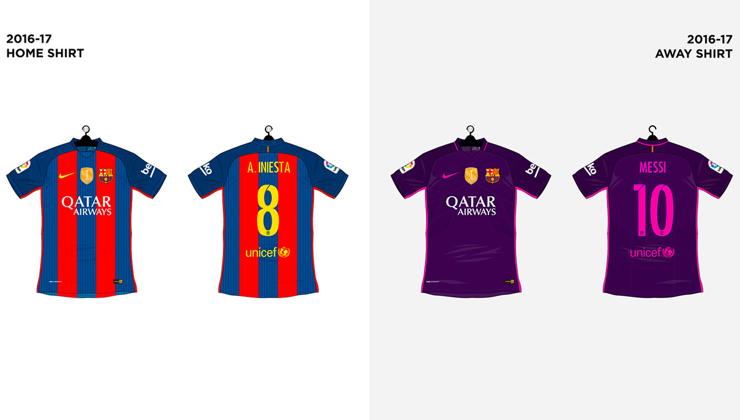 on sale 58bea e42b6 Every FC Barcelona Shirt made by Nike - SoccerBible