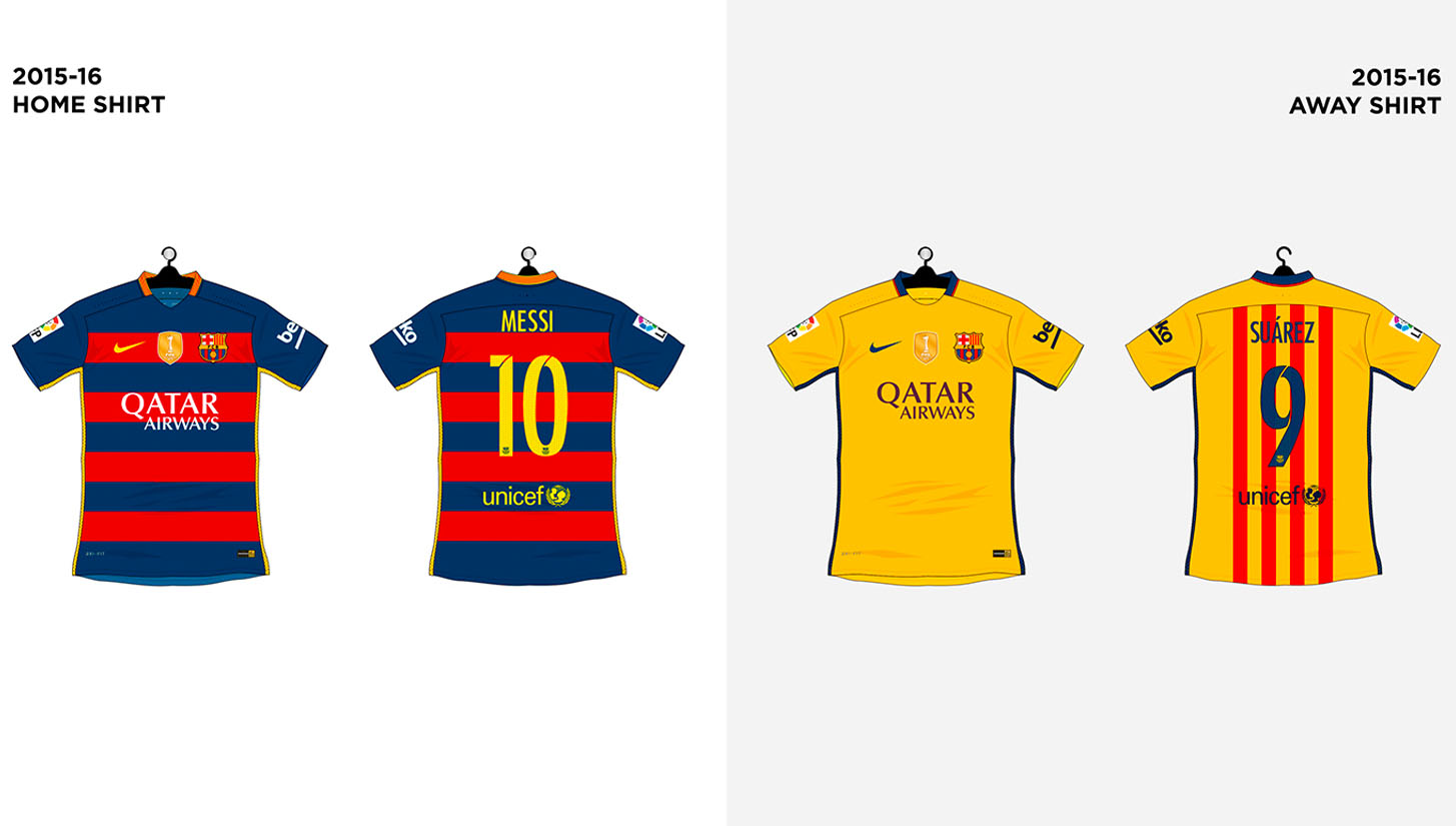 on sale f2f6d 747e9 Every FC Barcelona Shirt made by Nike - SoccerBible