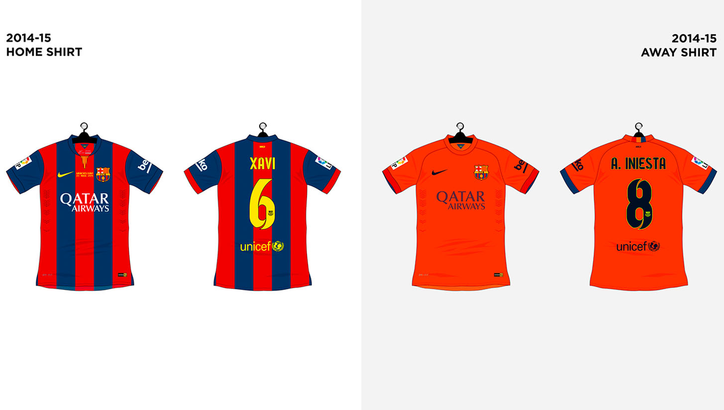 on sale cccc6 cda71 Every FC Barcelona Shirt made by Nike - SoccerBible
