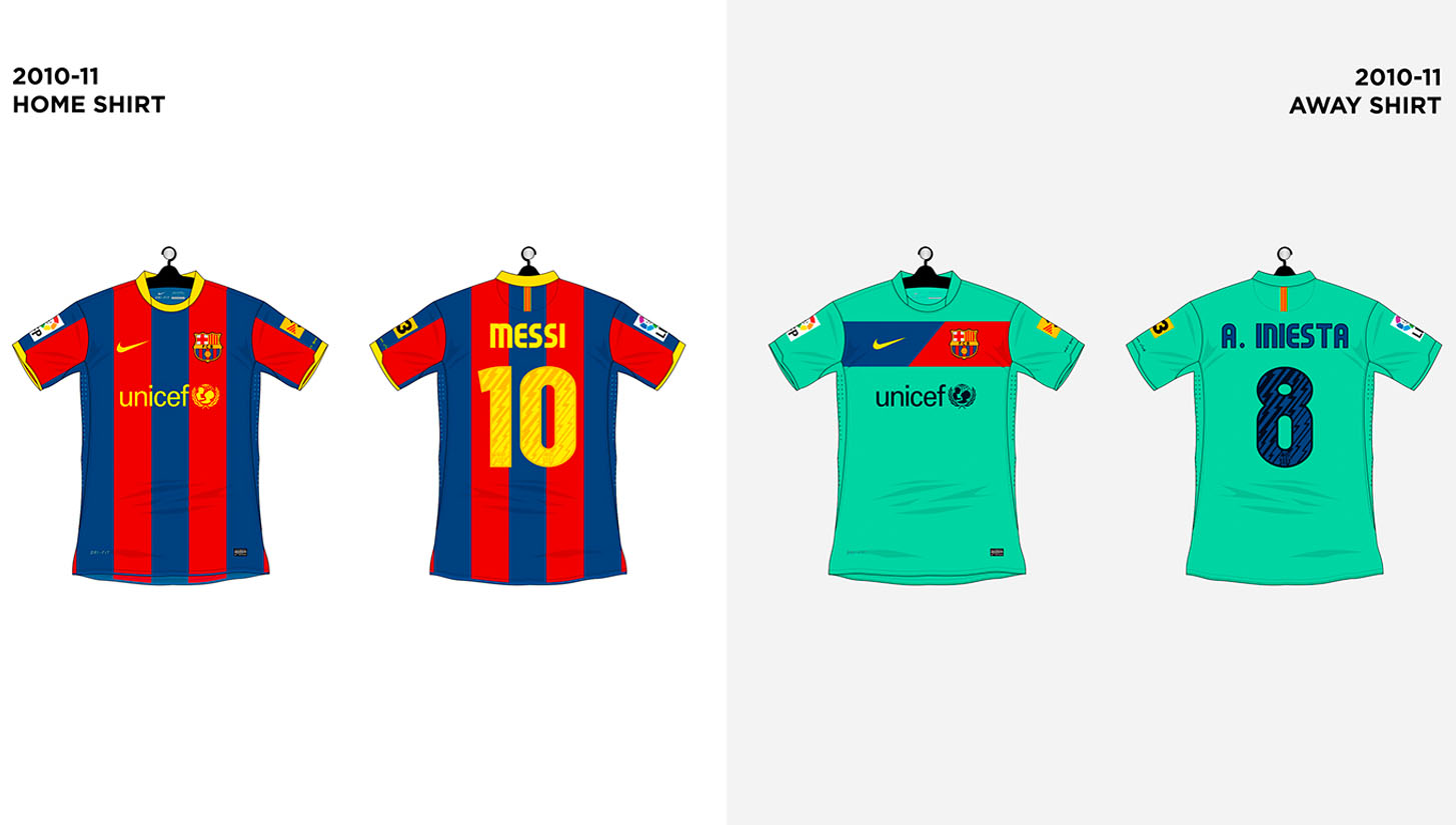 every fc barcelona shirt made by nike soccerbible every fc barcelona shirt made by nike