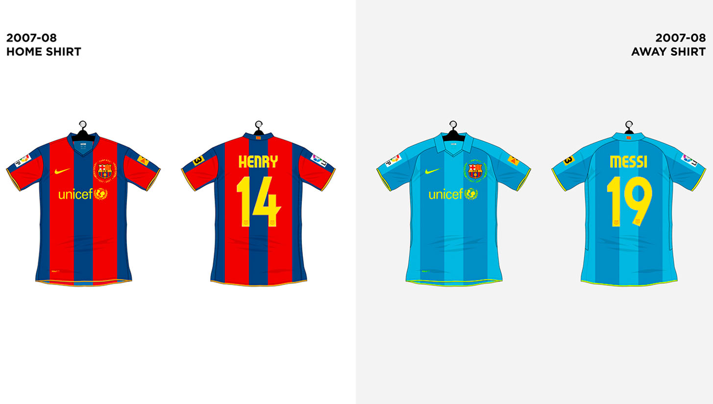 8a68222ea Every FC Barcelona Shirt made by Nike - SoccerBible