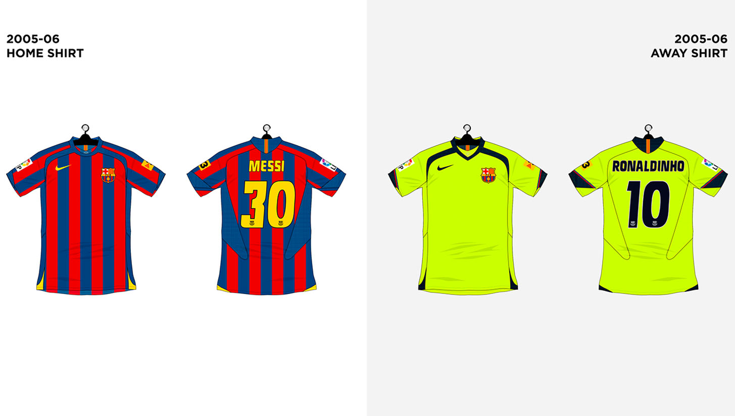 on sale 7a46e b14d4 Every FC Barcelona Shirt made by Nike - SoccerBible