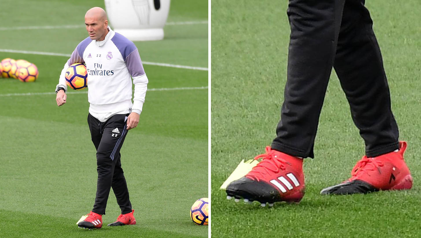 406c50297 Real Madrid Players Train In adidas Red Limit Football Boots - SoccerBible.