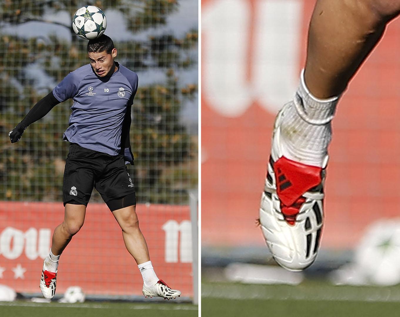 04fd2cef5af7 James Rodríguez Trains In 2017 adidas Predator Mania Champagne Remake -  SoccerBible.