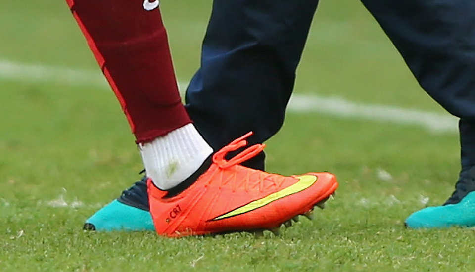 buy online 809f1 d2a4c CR7 In Custom Superfly as Portugal Mullered - SoccerBible