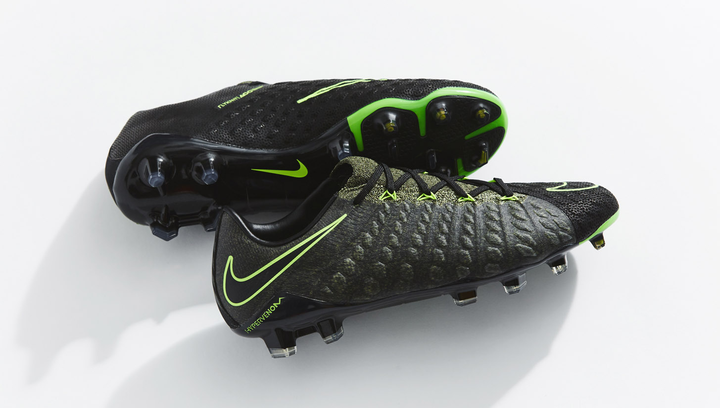 black and green nike football boots