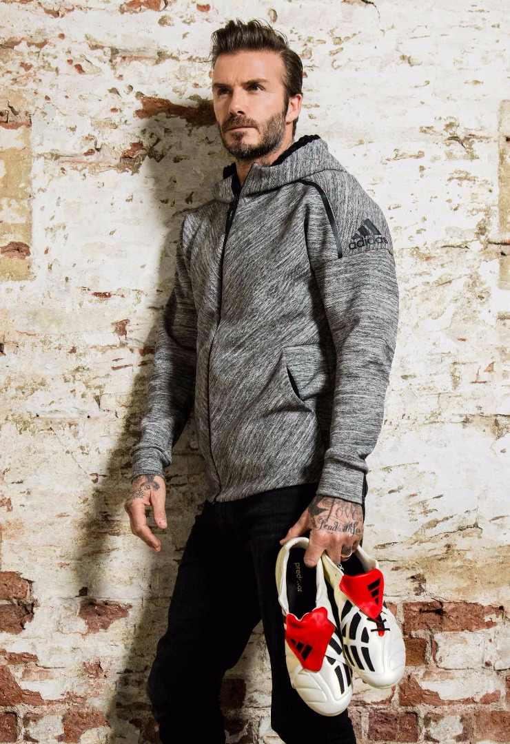 David beckham reveals adidas predator mania champagne soccerbible for David beckham