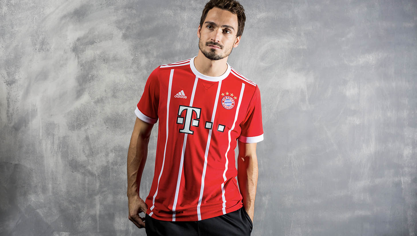 0384c683c FC Bayern Munich 2017 18 adidas Home Shirt - SoccerBible.