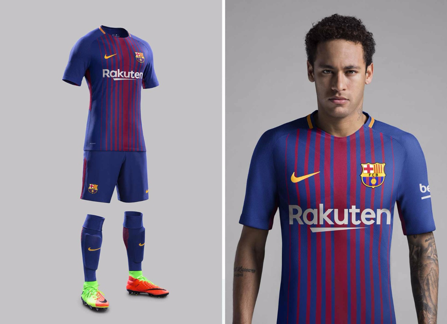new concept d174f 9743b Nike Launch 2017/18 FC Barcelona Home Kit - SoccerBible