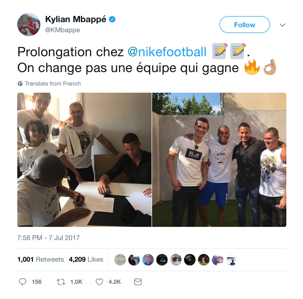 Kylian Mbappe Extends Nike Contract - SoccerBible.