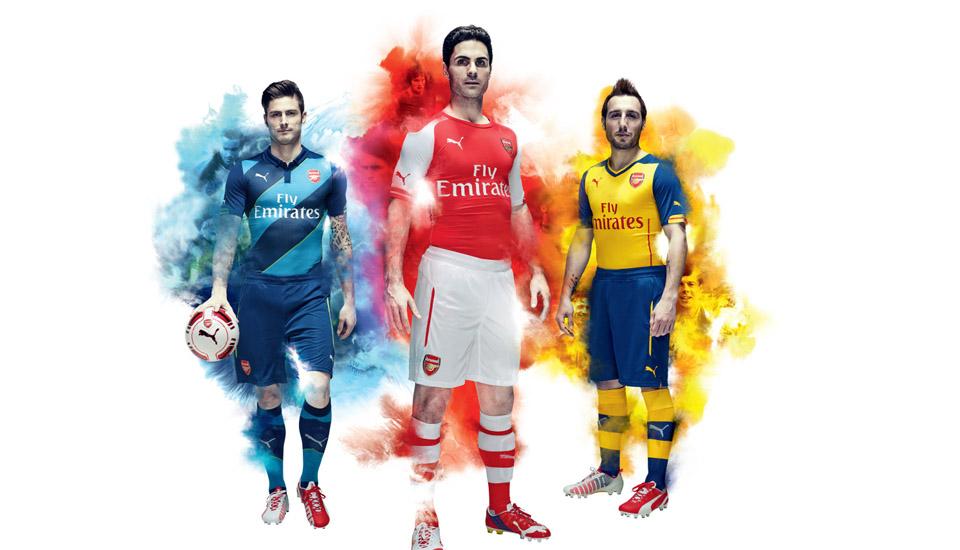 best authentic cdde8 1db7c PUMA Launch Arsenal 2014/15 Kits - SoccerBible