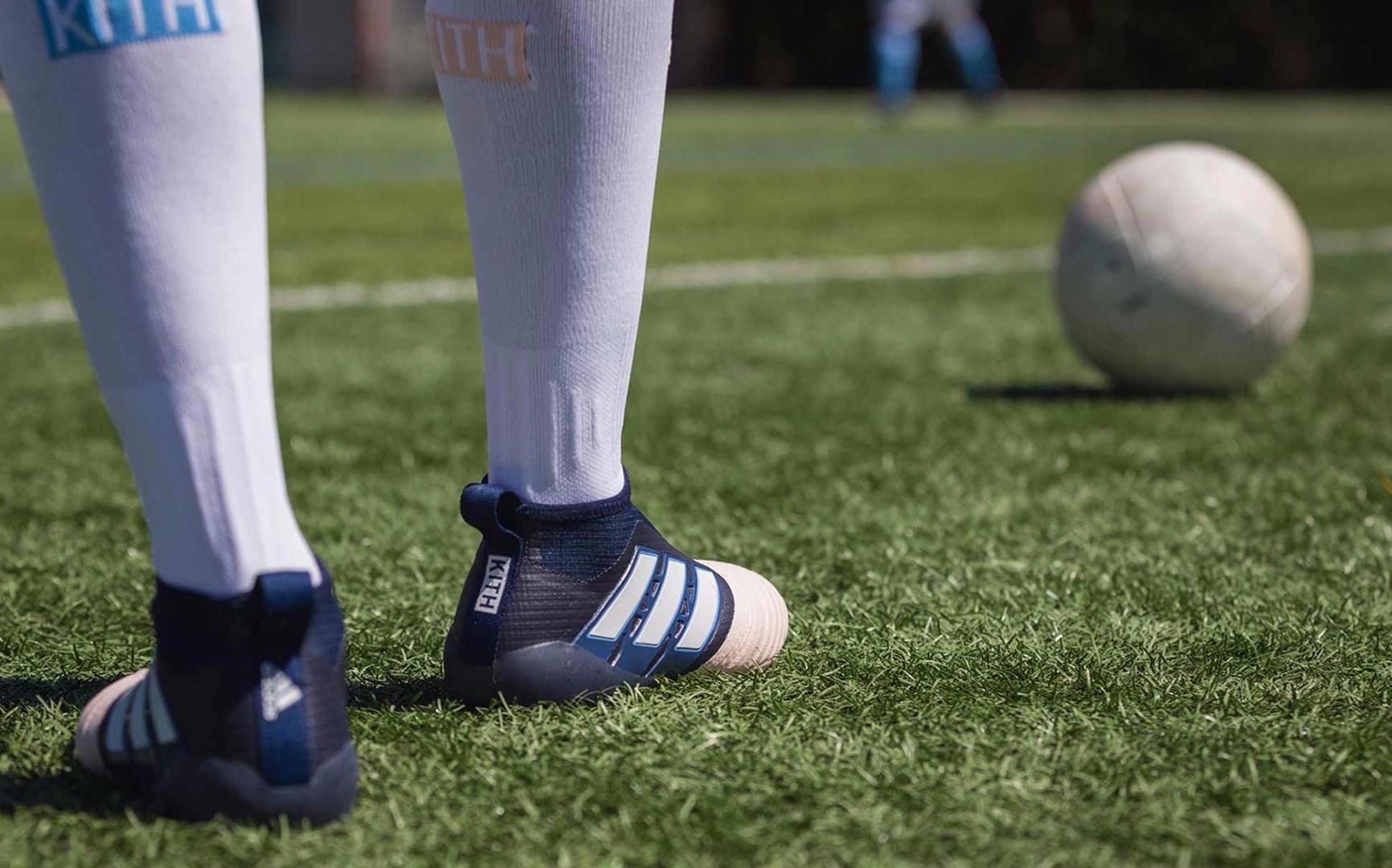new products 6a4af e9cdd KITH Flamingos x adidas Football Lookbook