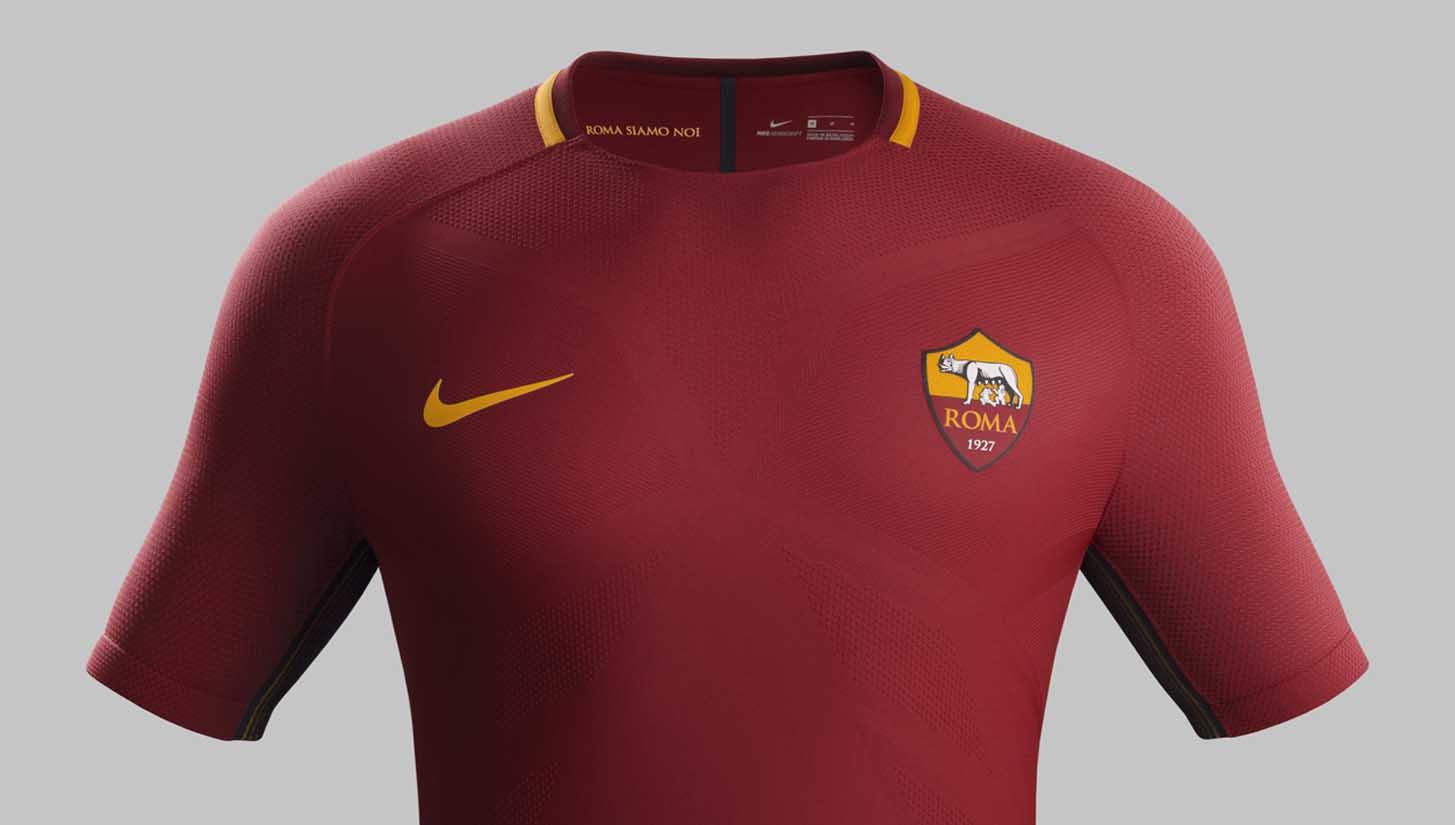 cc8ce8b255d AS Roma 2017 18 Nike Home Shirt - SoccerBible