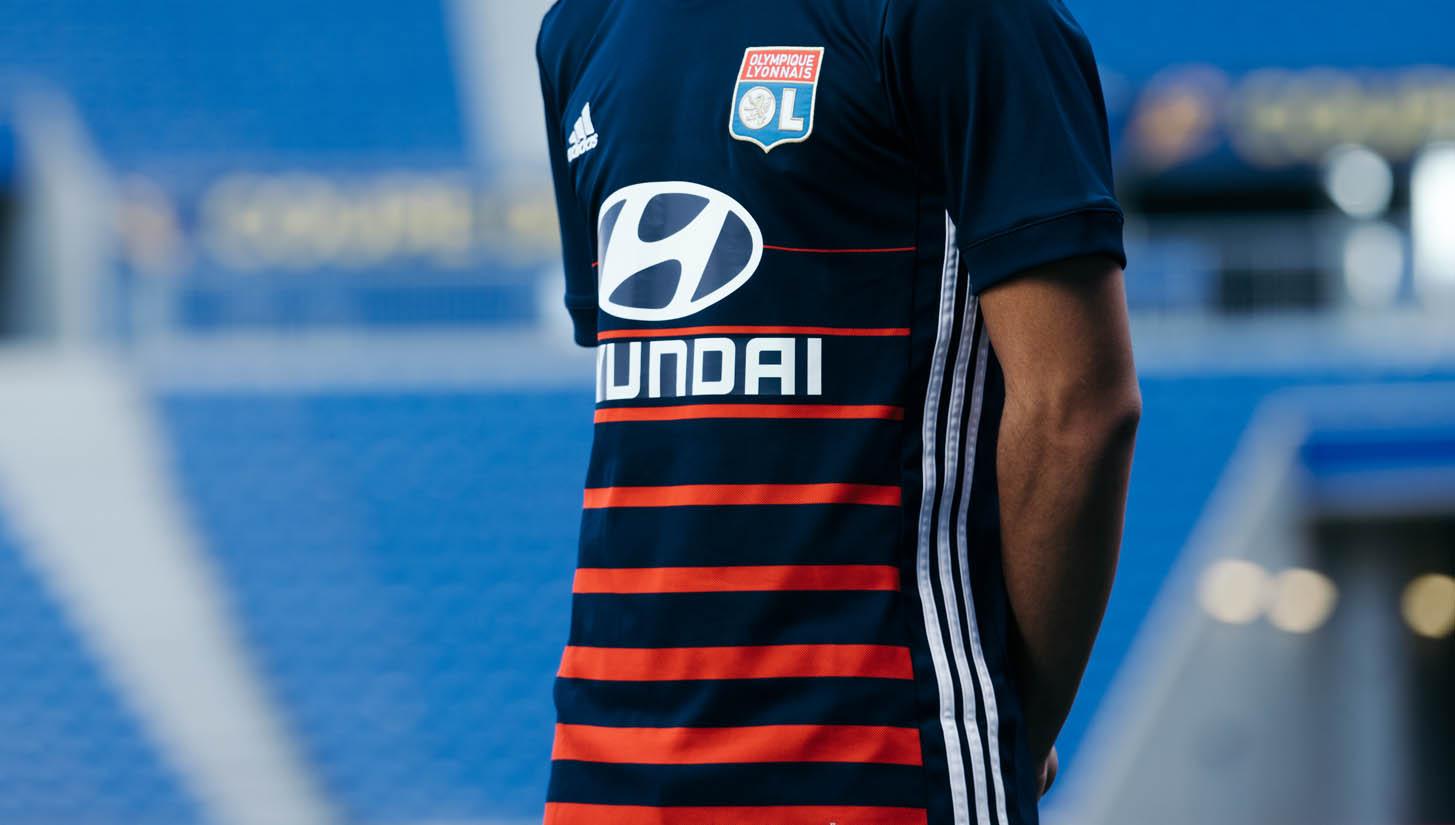 Olympique Lyonnais 17 18 Away Shirt by adidas - SoccerBible f8c66c1f9