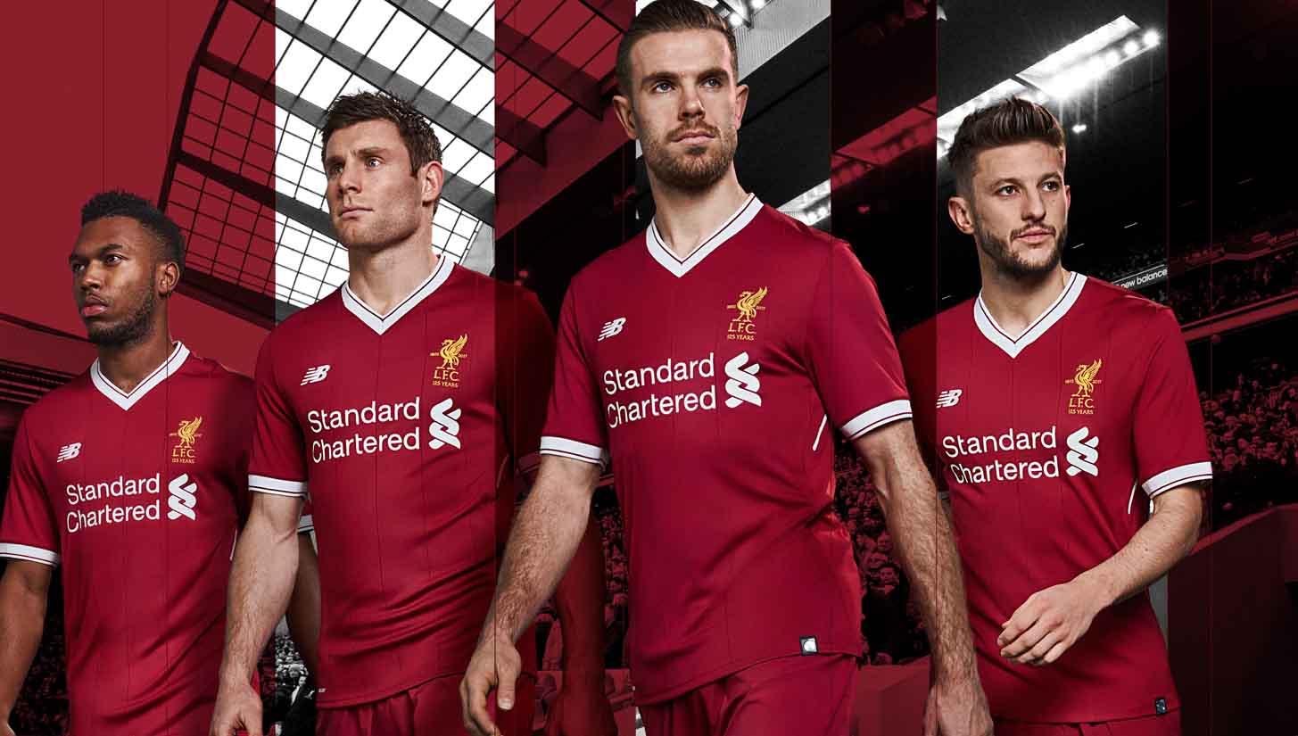 New Balance Launch Liverpool 2017 18 Home Shirt - SoccerBible 9b35e1a16