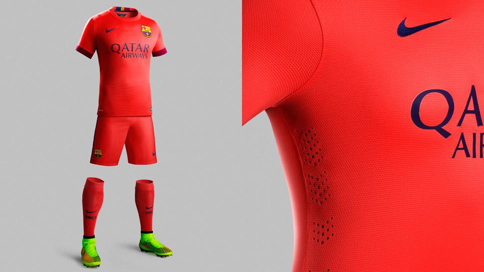 san francisco 2e4ed 67d77 Nike FC Barcelona 2014/15 Away Shirt - SoccerBible