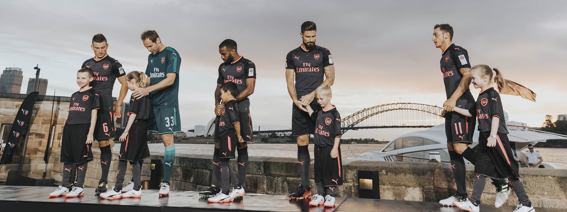 fa6ce019d Arsenal Launch 2017 18 PUMA Third Shirt in Sydney - SoccerBible.