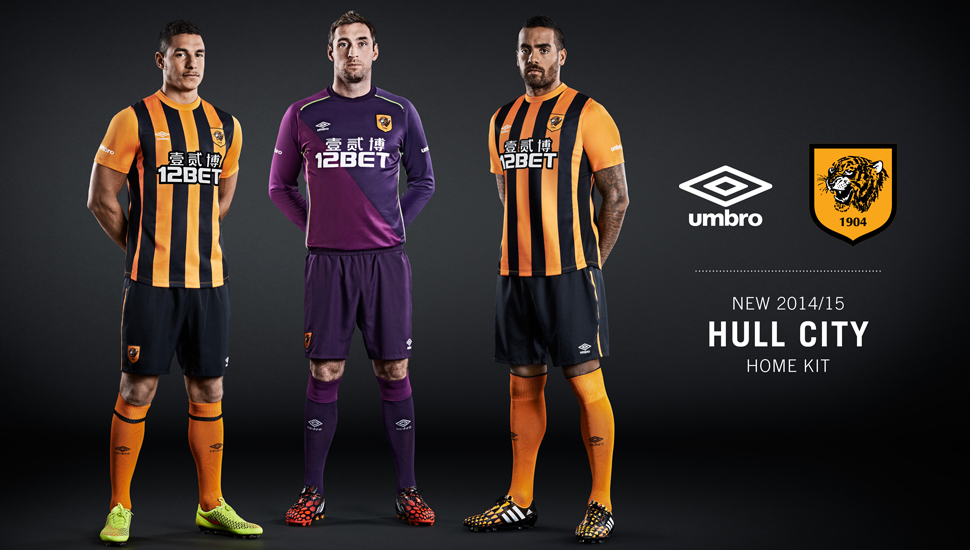 Umbro Unveil Hull City 2014 15 Home Kit - SoccerBible 1663aa0db