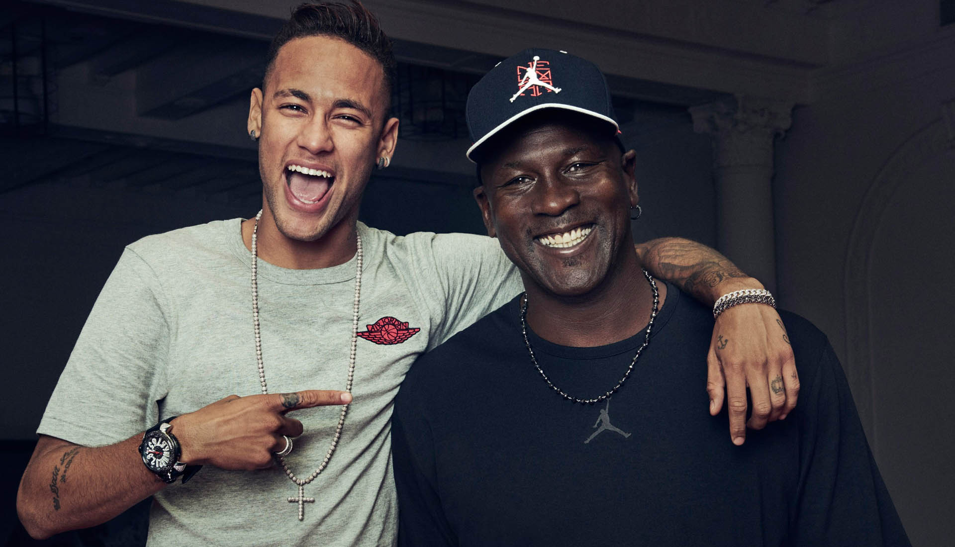 Neymar collaborated with Michael Jordan in 2016
