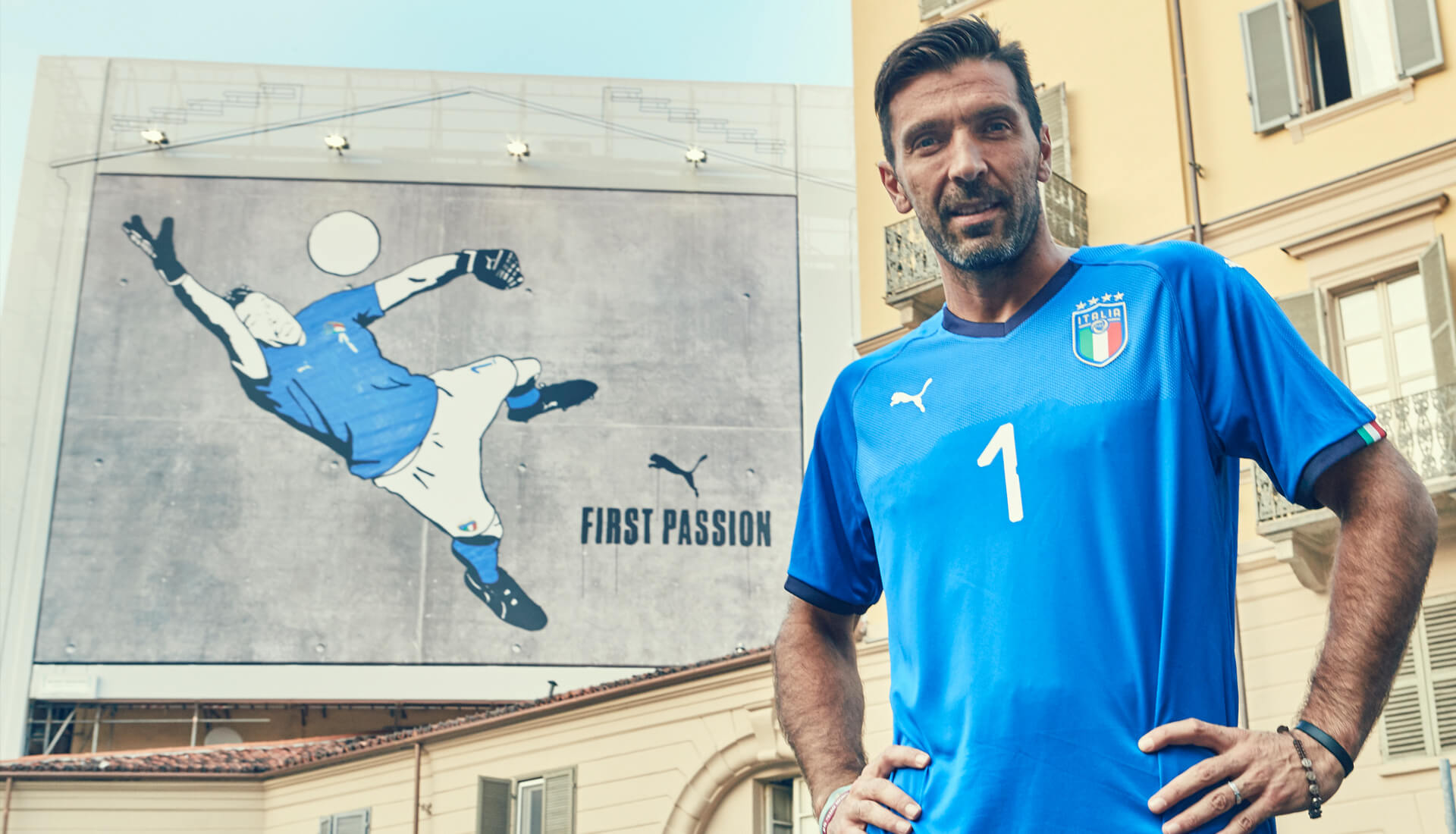 c120649bb8f Gigi Buffon To Wear 2018 Italy Home Shirt - SoccerBible.