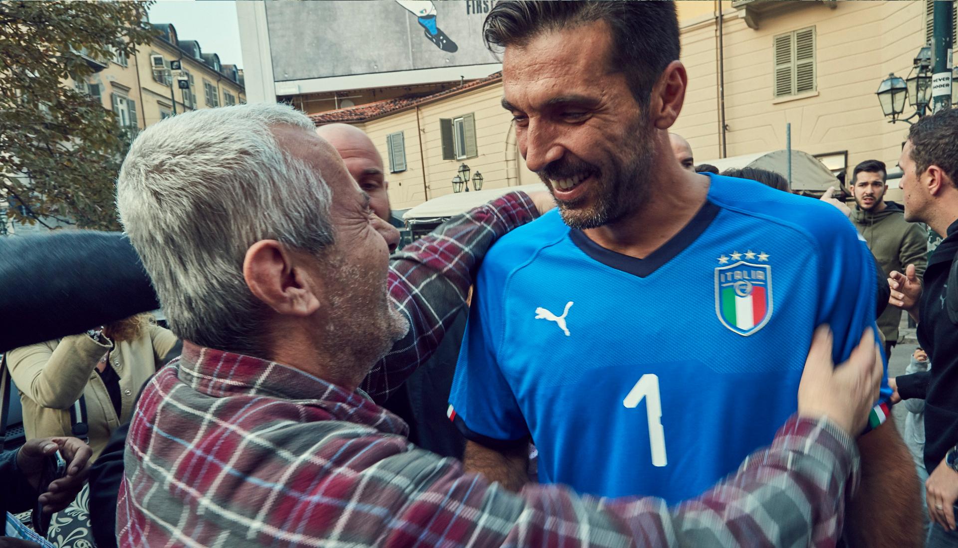 b471392645a Gigi Buffon To Wear 2018 Italy Home Shirt - SoccerBible.