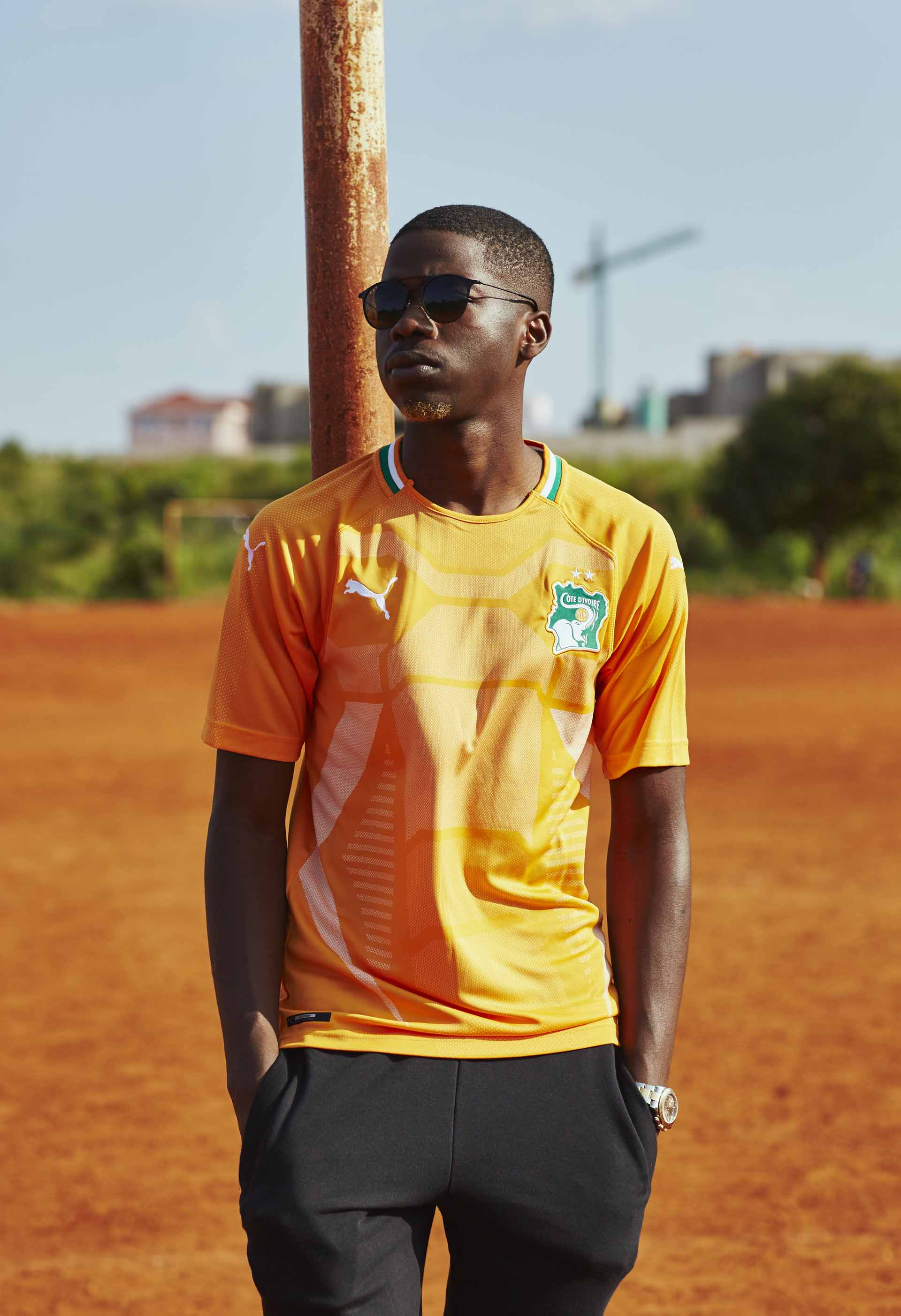 PUMA Mens Ivory Coast Home Replica Shirt