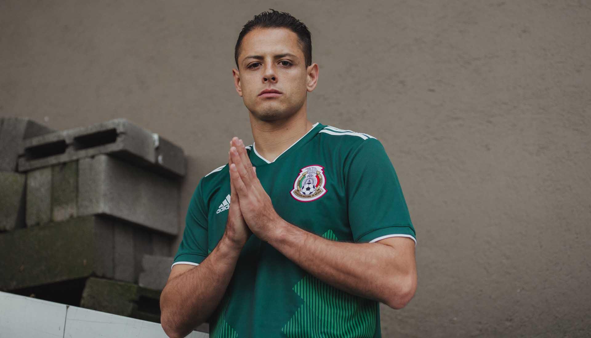 56062b12e34 Mexico 2018 World Cup adidas Home Shirt - SoccerBible